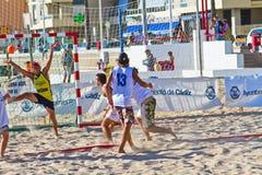 19th match för liga för strandcadiz handboll Royaltyfria Bilder