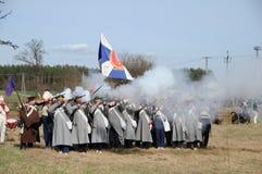 19th reenactment столетия сражения Стоковые Фото