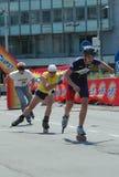 A 1a raça dos patins de rolo de Belgrado Imagens de Stock