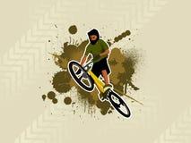 1个bicyle上涨 免版税库存图片