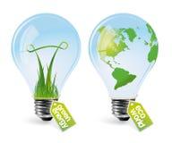 1电灯泡eco可实现的集 免版税库存照片