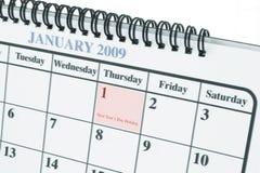1er janvier Photos libres de droits