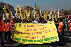 1ER MAI À ISTANBUL Photo libre de droits