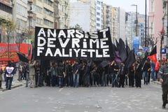 1er mai dans Taksim, Istanbul Images stock