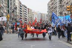 1er mai dans Taksim, Istanbul Photos stock