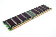 1GB DDR SDRAM. Isolated over white Stock Photography