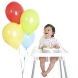 1r cumpleaños de los bebés Foto de archivo libre de regalías