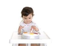 1r cumpleaños del bebé Fotos de archivo libres de regalías