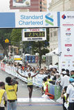 1r Ganador del maratón del kilolitro Fotografía de archivo libre de regalías