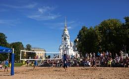 1r torneo internacional del voleo de la playa Fotos de archivo