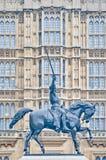 1ra estatua de Richard en Londres, Inglaterra Imágenes de archivo libres de regalías