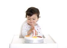1ra torta del bebé Foto de archivo libre de regalías