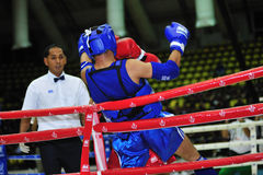1ros juegos asiáticos 2009 de los artes marciales Fotos de archivo