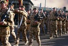1ros protectores del irlandés del batallón Fotografía de archivo libre de regalías