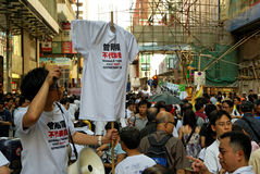 1st 2009 hong juli kongprotest Royaltyfri Fotografi
