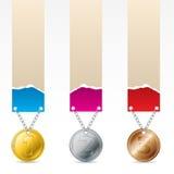 1st, 2de en derde prijsetiketten Royalty-vrije Stock Foto's