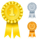 1st; 2nd; 3rd awards. Illustration of 1st; 2nd; 3rd awards (only gradients Stock Photos