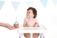 1st behandla som ett barn födelsedag Fotografering för Bildbyråer