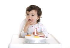 1st behandla som ett barn födelsedag Arkivbild