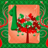 1st Day of Christmas Royalty Free Stock Image