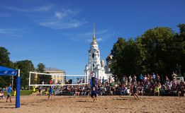 1st international beach volley tournament Stock Photos
