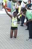 1st kl-maratonvinnare Arkivfoto