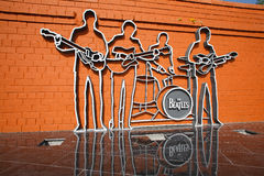 1st monument in Russia to group The Beatles Stock Image