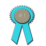1st place award ribbon. Graphic depicting a blue ribbon first place award Vector Illustration