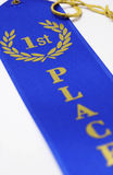 1st place blue ribbon Stock Images