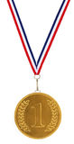 1st Placera guldmedaljen Arkivbild