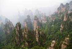 1st porslinskognationalpark zhangjiajie Royaltyfri Fotografi