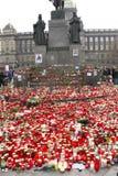 1st tjeckiska president till tribute Royaltyfri Fotografi