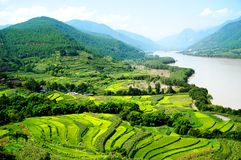 The 1st Turn of Yangtze River. The first turn of Yangtze River, Yunnan Royalty Free Stock Photography
