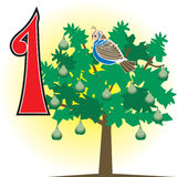 1stdaychristmas. 12 Days of Christmas. Can also be used to learn how to count. See all 12 cards Stock Image
