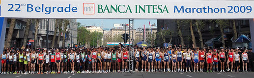 2ò Maratona Belgrado 2009 de Belgrado Banca Intesa Foto de Stock
