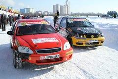 _ 2ø tradicional raça Stars Za rulyom Fotografia de Stock