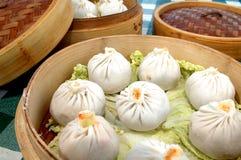 2个中国饺子 免版税库存照片