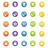 2个五颜六色的图标导航万维网 免版税图库摄影