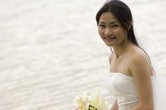 2个亚洲人新娘 库存照片