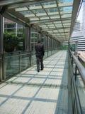 2个亚洲人生意人走 免版税库存照片