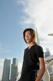 2个亚洲人青年时期 免版税库存图片