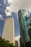 2个休斯敦摩天大楼 免版税库存照片
