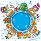 2个信函圣诞老人系列 库存照片