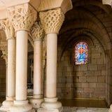 2个修道院视窗 免版税库存图片