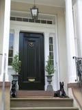 2个入口有历史的房子 免版税图库摄影