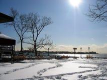 2个公园冬天 免版税图库摄影