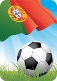 2个冠军欧洲足球 库存例证