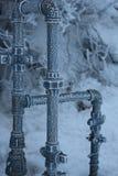 2个冻结管道 免版税库存照片