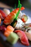 2个分类寿司 免版税库存照片