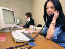 2个办公室场面 免版税库存图片